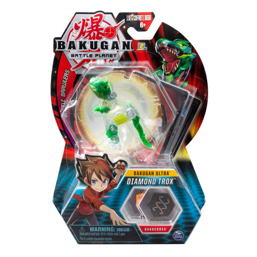 Bakugan 8cm Ultra Action Figure and Trading Card - Diamond Trox