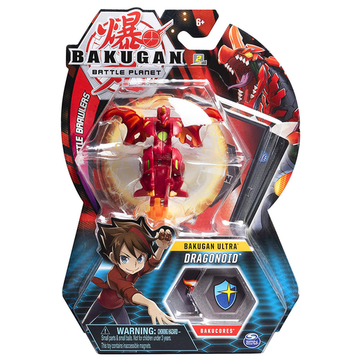 Bakugan 8cm Ultra Action Figure and Trading Card - Dragonoid