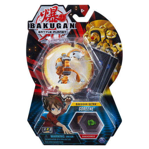 Bakugan 8cm Ultra Action Figure and Trading Card - Goreene