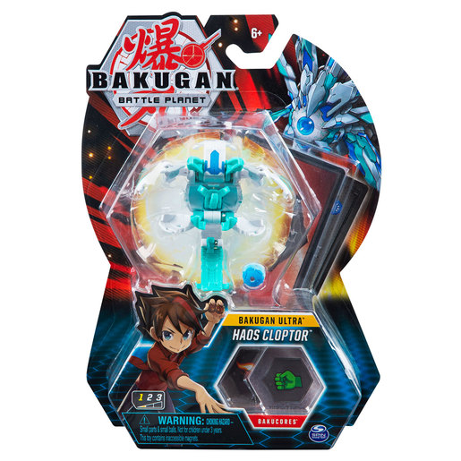 Bakugan 8cm Ultra Action Figure and Trading Card - Haos Cloptor