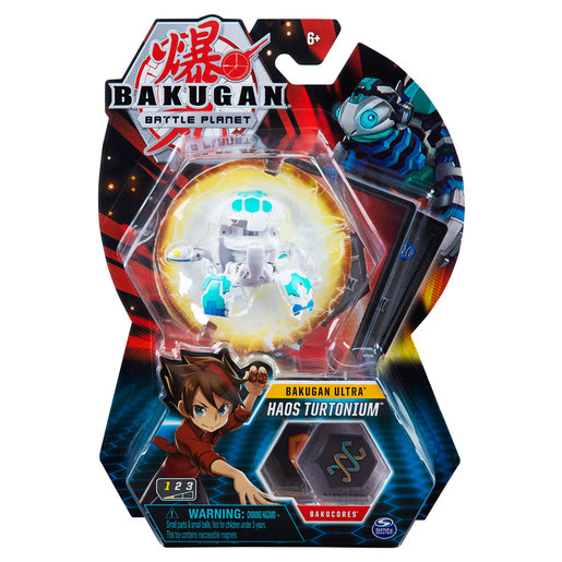 Bakugan 8cm Ultra Action Figure and Trading Card - Haos Turtonium