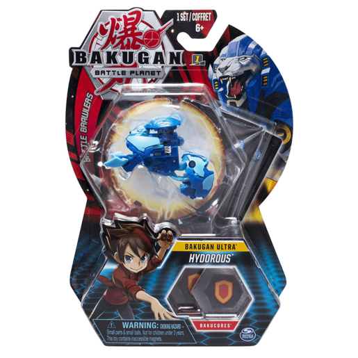 Bakugan 8cm Ultra Action Figure and Trading Card - Hydorous