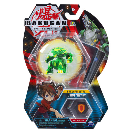 Bakugan 8cm Ultra Action Figure and Trading Card - Lupitheon