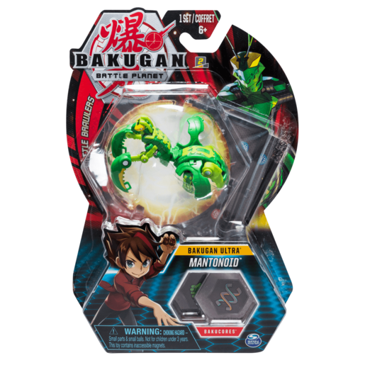 Bakugan 8cm Ultra Action Figure and Trading Card - Mantonoid