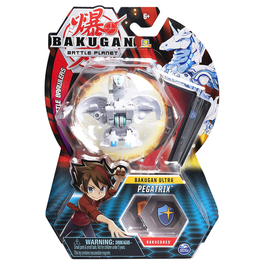 Bakugan 8cm Ultra Action Figure and Trading Card - Pegatrix