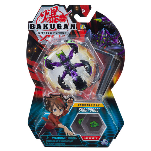 Bakugan 8cm Ultra Action Figure and Trading Card - Skorporos