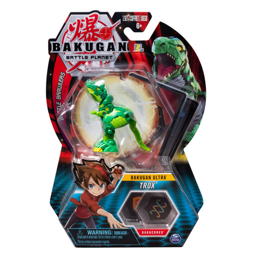 Bakugan 8cm Ultra Action Figure and Trading Card - Trox