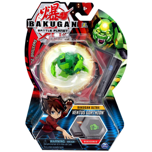 Bakugan 8cm Ultra Action Figure and Trading Card - Ventus Gorthion