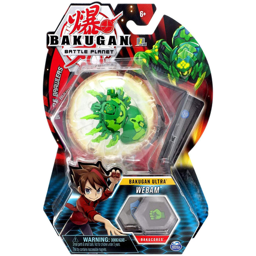Bakugan 8cm Ultra Action Figure and Trading Card - Webam
