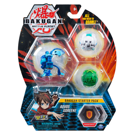 Bakugan Starter 3 Pack Action Figure - Aquos Goreene