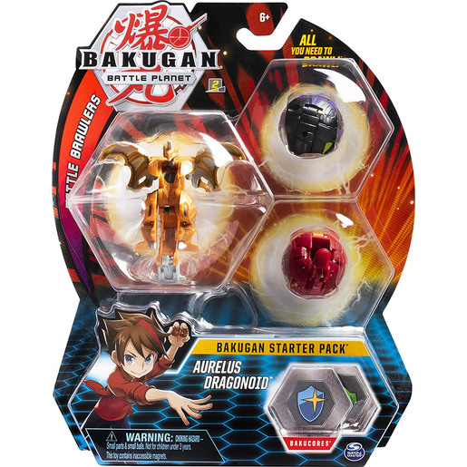 Bakugan Starter 3 Pack Action Figure - Aurelus Dragonoid