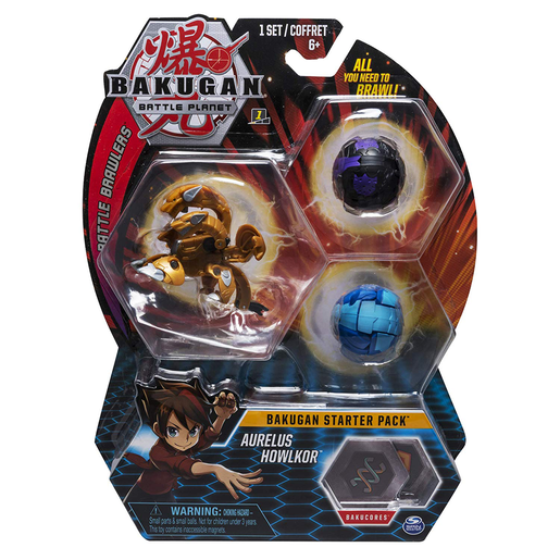 Bakugan Starter 3 Pack Action Figure - Aurelus Howlkor