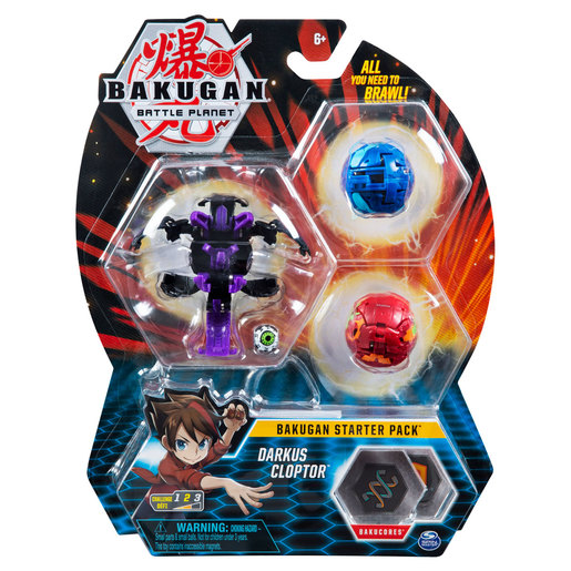 Bakugan Starter 3 Pack Action Figure - Darkus Cloptor