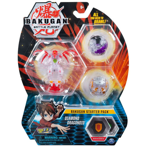 Bakugan Starter 3 Pack Action Figure - Diamond Dragonoid