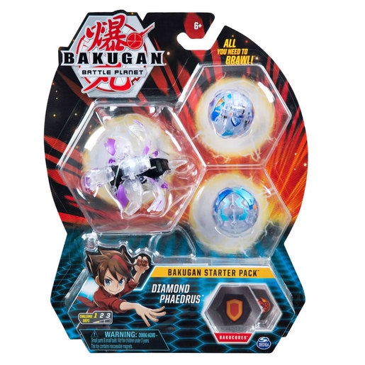 Bakugan Starter 3 Pack Action Figure - Diamond Phaedrus