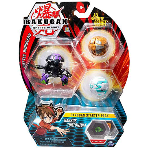 Bakugan Starter 3 Pack Action Figure - Darkus Mantonoid
