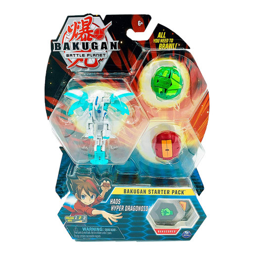 Bakugan Starter 3 Pack Action Figure - Haos Hyper Dragonoid