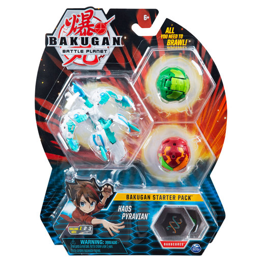Bakugan Starter 3 Pack Action Figure - Haos Pyravian