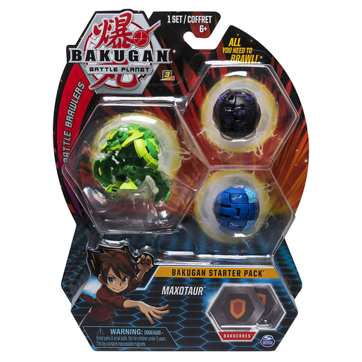 Bakugan Starter 3 Pack Action Figure - Maxotaur