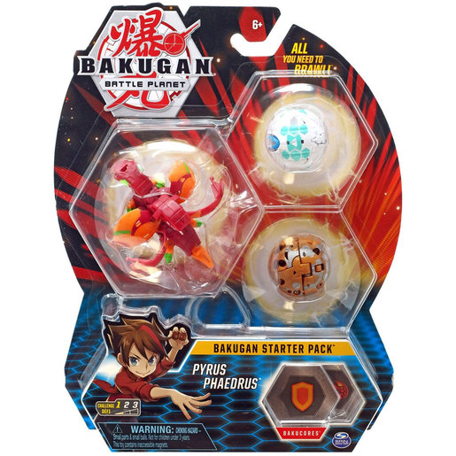 Bakugan Starter 3 Pack Action Figure - Pyrus Phaedrus
