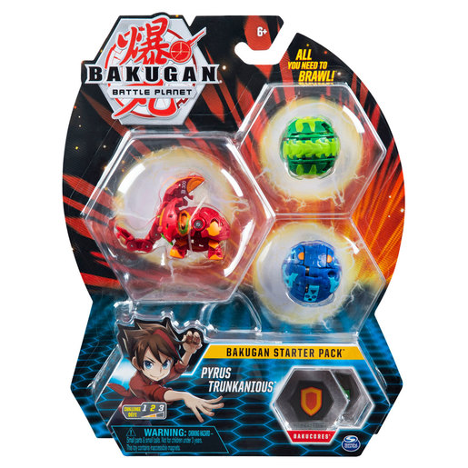 Bakugan Starter 3 Pack Action Figure - Pyrus Trunkanious