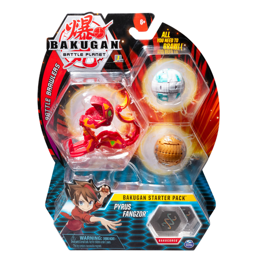 Bakugan Starter 3 Pack Action Figure - Pyrus Fangzor