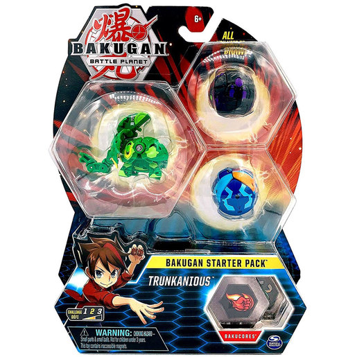 Bakugan Starter 3 Pack Action Figure - Trunkanious