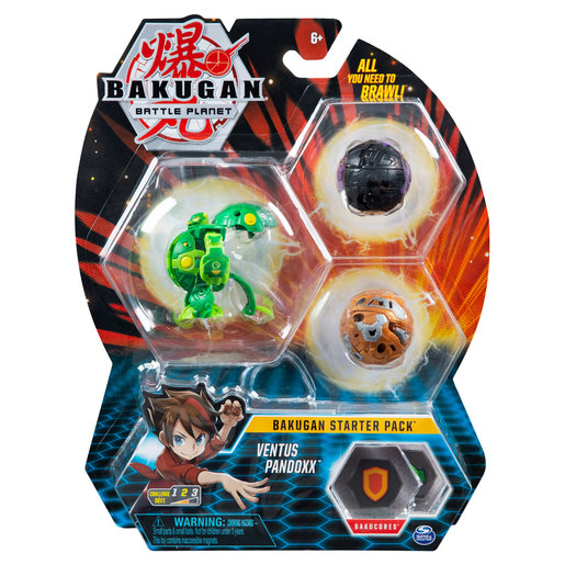Bakugan Starter 3 Pack Action Figure - Ventus Pandoxx