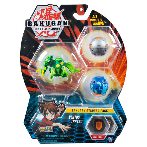 Bakugan Starter 3 Pack Action Figure - Ventus Trhyno