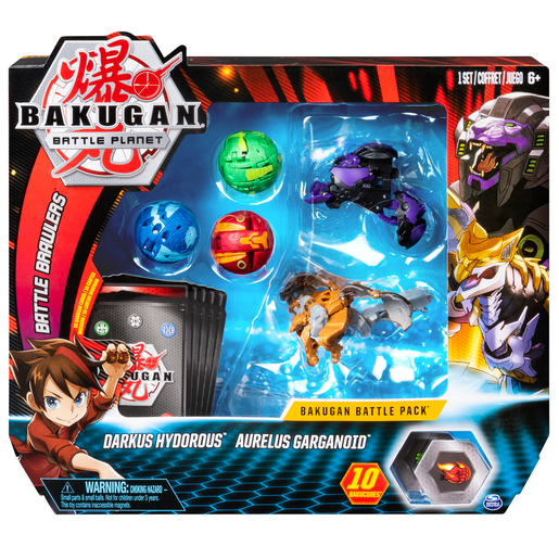 Bakugan Battle Pack - Darkus Hydorous and Aurelus Garganoid
