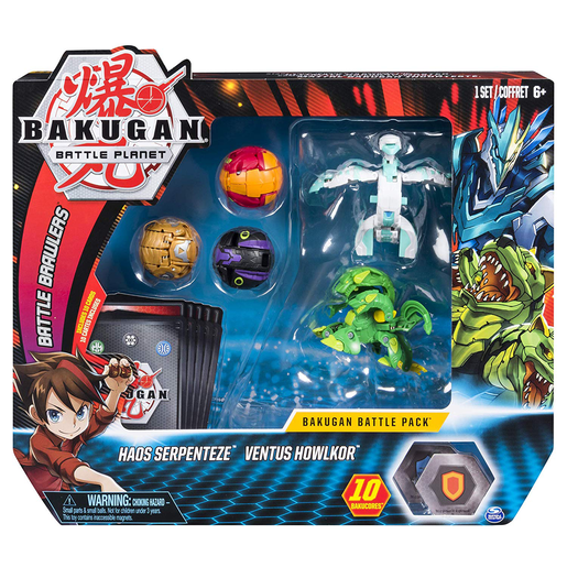 Bakugan Battle Pack - Haos Serpenteze and Ventus Howlkor