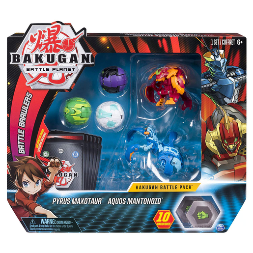 Bakugan Battle Pack - Pyrus Maotaur and Aquos Mantonoid