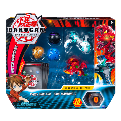 Bakugan Battle Collectible Cards and Figures 5-Pack - Pyrus