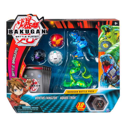 Bakugan Battle Collectible Cards and Figures 5-Pack - Ventus