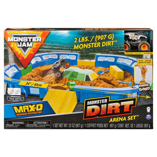 Monster Jam Monster Truck Dirt Arena Playset - 1:64