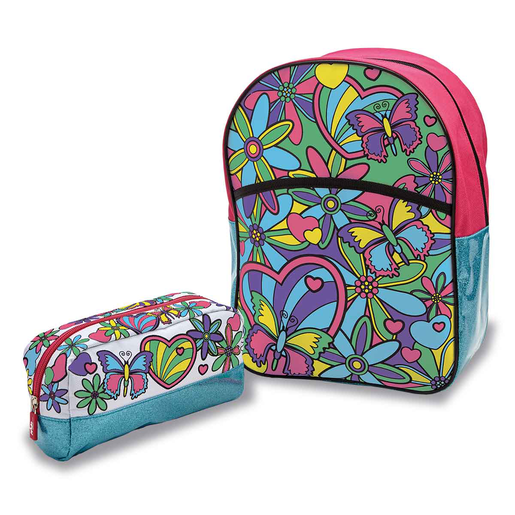 Out To Impress Colour Your Own Backpack and Pencil Case