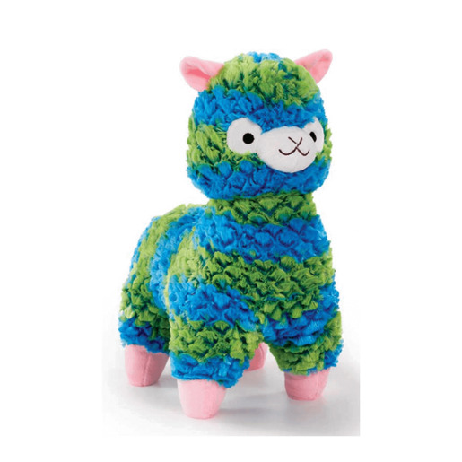 Snuggle Buddies 20cm Mini Fleecy Llama -  Button (Blue and Green)