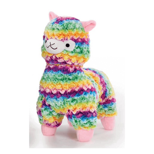 Snuggle Buddies 20cm Mini Fleecy Llama - Blanket (Rainbow)