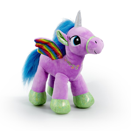 Snuggle Buddies Rainbow Flutter Unicorn Soft Toy - Purple