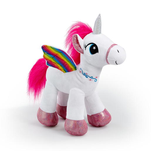Snuggle Buddies Rainbow Flutter Unicorn Soft Toy - White