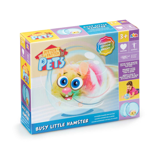 Pitter Patter Pets Busy Little Hamster - Rainbow Edition Bright