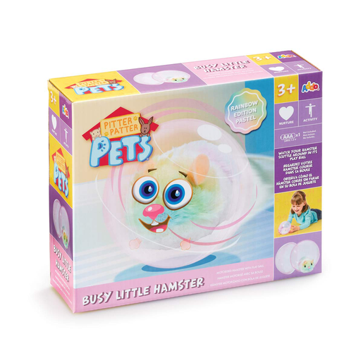 Pitter Patter Pets Busy Little Hamster - Pastel Rainbow Edition
