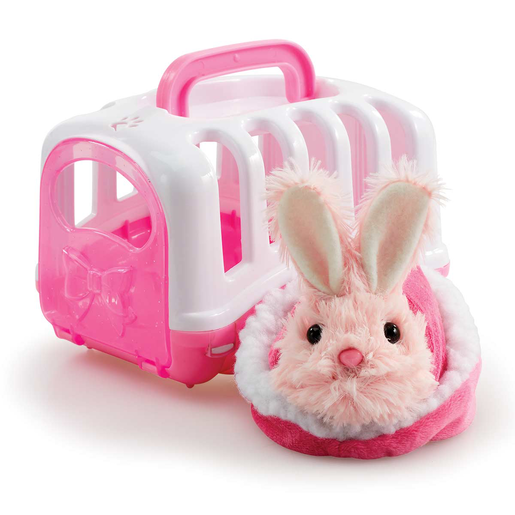 Pitter Patter Pets Carry Around Bunny - Pink