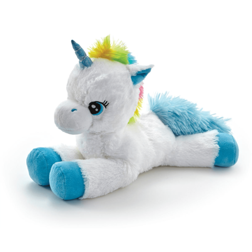 Snuggle Buddies Laying Unicorn - Blue