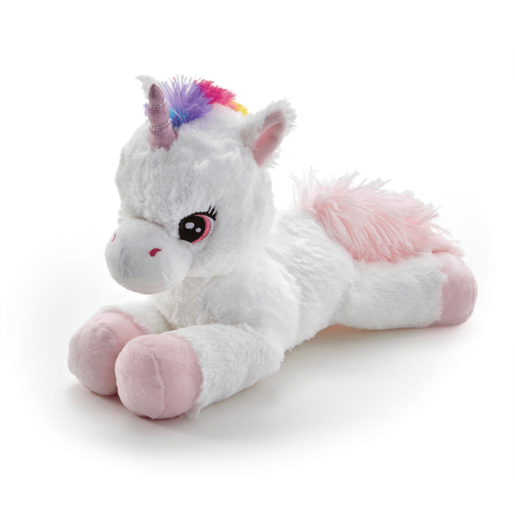 Snuggle Buddies Laying Unicorn - Pink