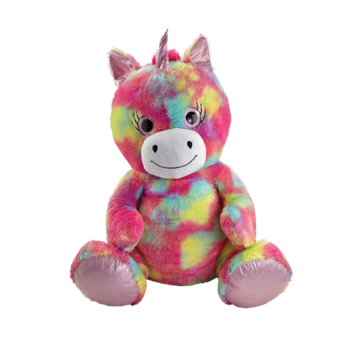Snuggle Buddies 80cm Plush Sitting Unicorn - Rainbow Shimmer