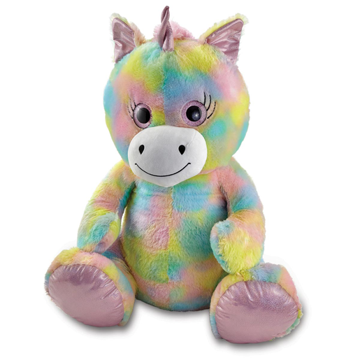 Snuggle Buddies 80cm Plush Sitting Unicorn - Sugar Sparkle