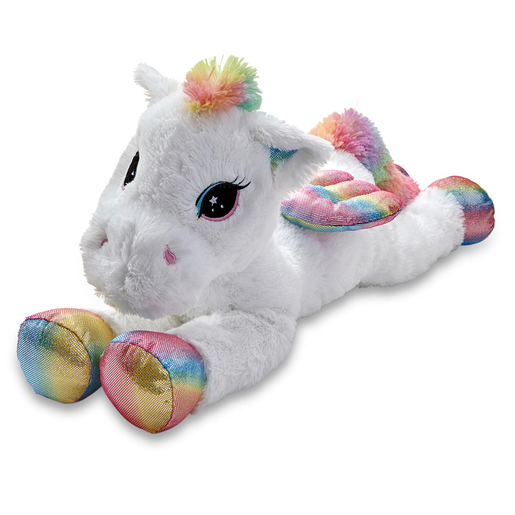 Snuggle Buddies 80cm Laying Unicorn - Pegasus