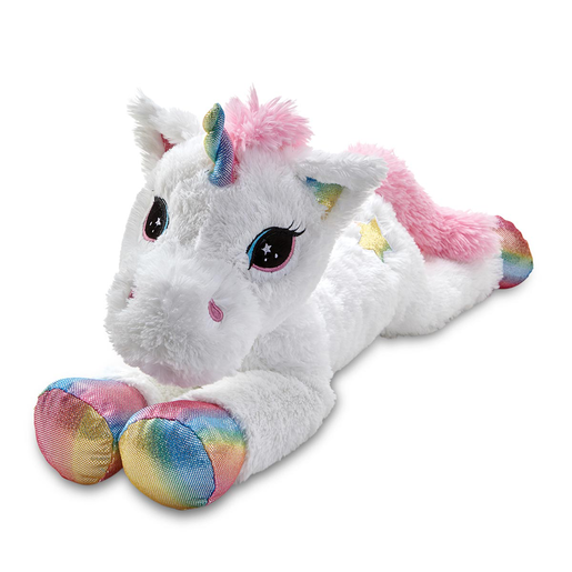Snuggle Buddies 80cm Laying Unicorn - Rainbow Star