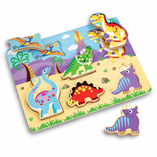 Woodlets Chunky Dinosaur Puzzle